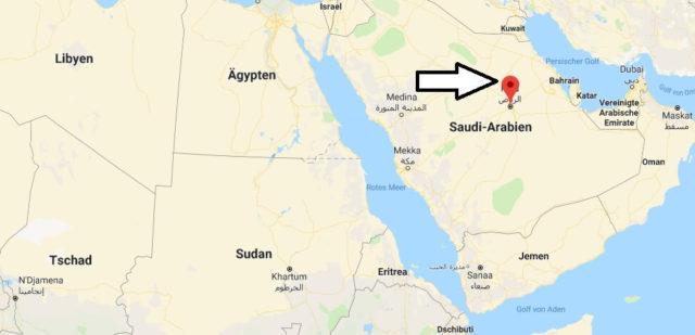 Wo liegt Riad? Wo ist Riad? in welchem land liegt Riad