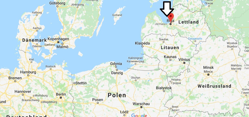 Wo liegt Riga? Wo ist Riga? in welchem land liegt Riga