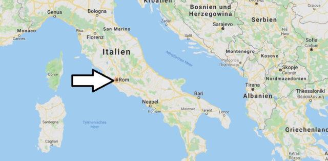 Wo liegt Rom? Wo ist Rom? in welchem land liegt Rom