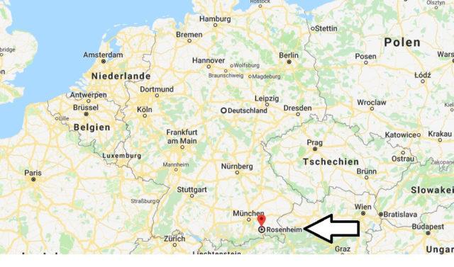 Wo liegt Rosenheim? Wo ist Rosenheim? in welchem Land