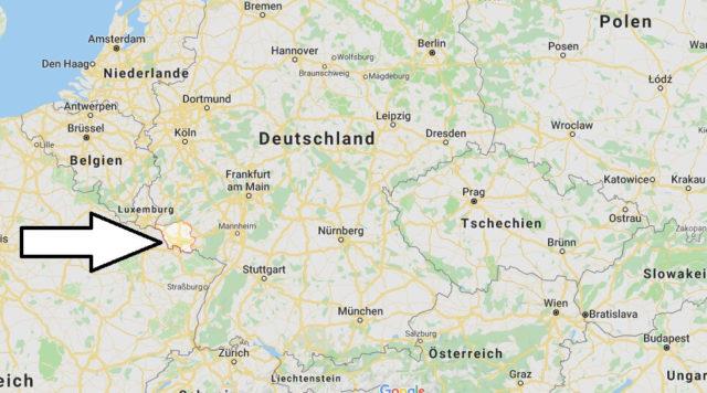 Wo liegt Saarland? Wo ist Saarland