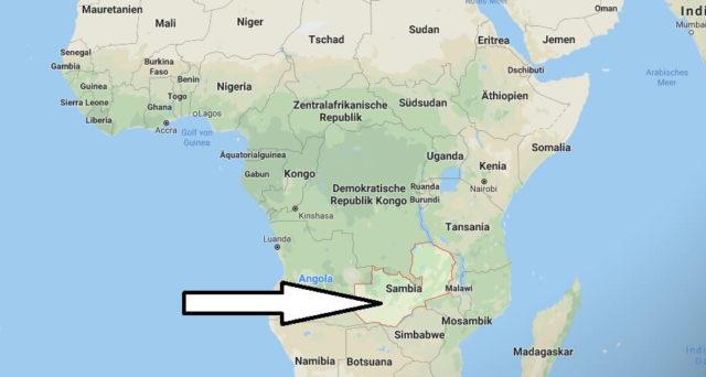 Wo liegt Sambia? Wo ist Sambia? in welchem Land? Welcher Kontinent ist Sambia?