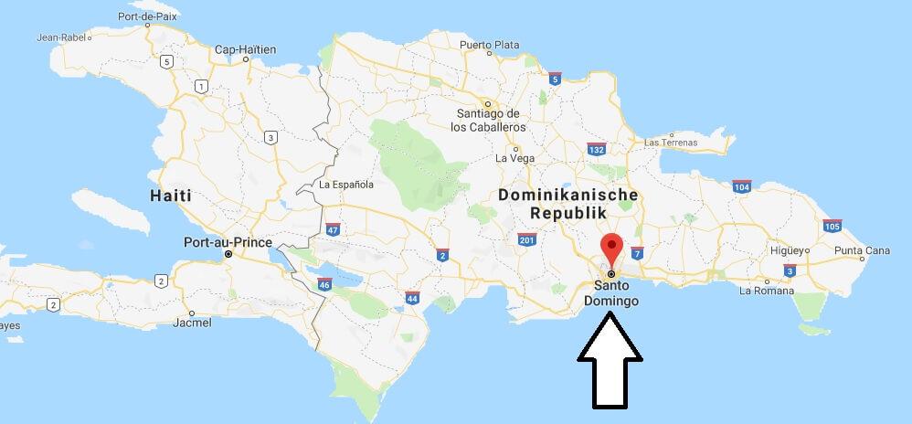 Wo liegt Santo Domingo? Wo ist Santo Domingo? in welchem land liegt Santo Domingo