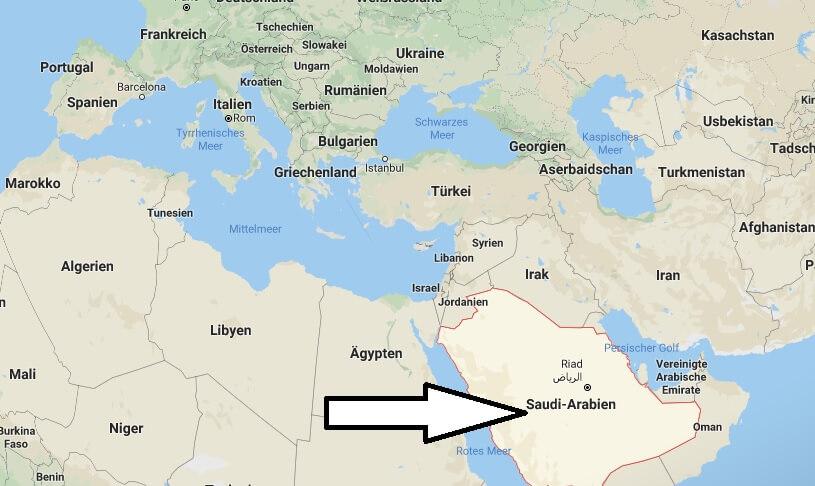 Wo liegt Saudi Arabien? Wo ist Saudi Arabien? in welchem Land? Welcher Kontinent ist Saudi Arabien?