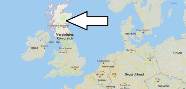 Wo liegt Schottland - Wo ist Schottland - in welchem Land - Welcher Kontinent ist Schottland