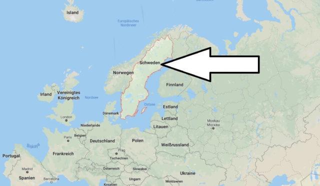 Wo liegt Schweden? Wo ist Schweden? in welchem Land? Welcher Kontinent ist Schweden?