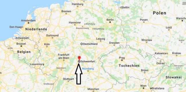 Wo liegt Schweinfurt? Wo ist Schweinfurt? in welchem Land