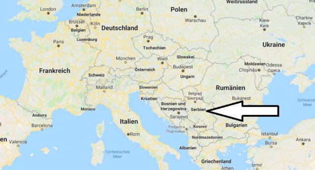 Wo liegt Serbien? Wo ist Serbien? in welchem Land? Welcher Kontinent ist Serbien?