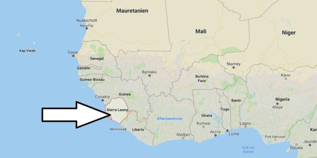 Wo liegt Sierra Leone - Wo ist Sierra Leone - in welchem Land - Welcher Kontinent ist Sierra Leone