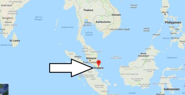 Wo liegt Singapur? Wo ist Singapur? in welchem Land? Welcher Kontinent ist Singapur?