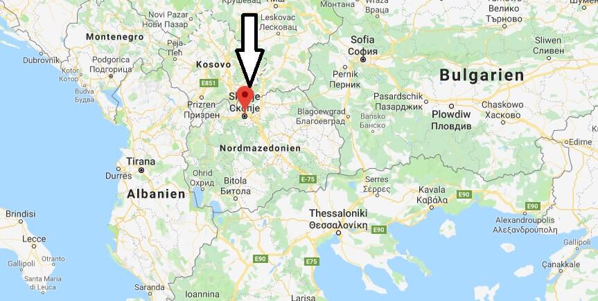 Wo liegt Skopje? Wo ist Skopje? in welchem land liegt Skopje