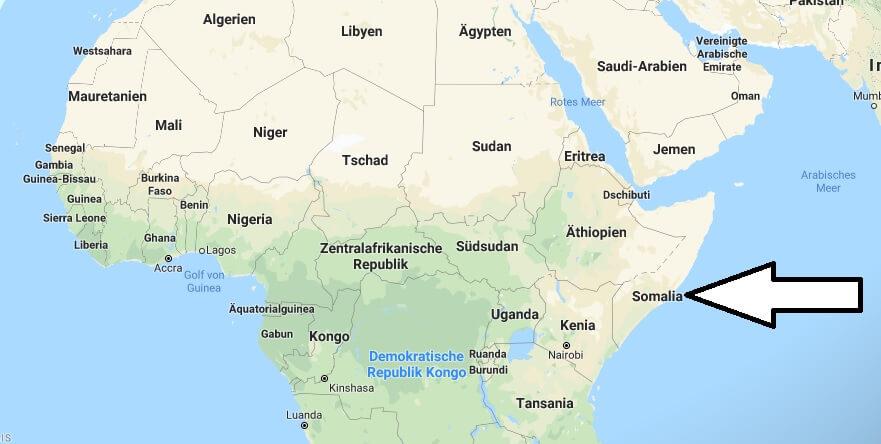 Wo liegt Somalia? Wo ist Somalia? in welchem Land? Welcher Kontinent ist Somalia?