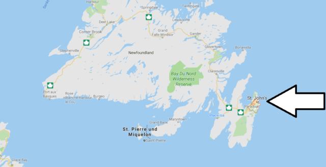 Wo liegt St. John's? Wo ist St. John's? in welchem land liegt St. John's