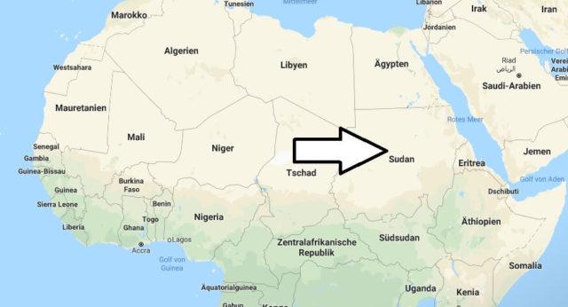 Wo liegt Sudan? Wo ist Sudan? in welchem Land? Welcher Kontinent ist Sudan?