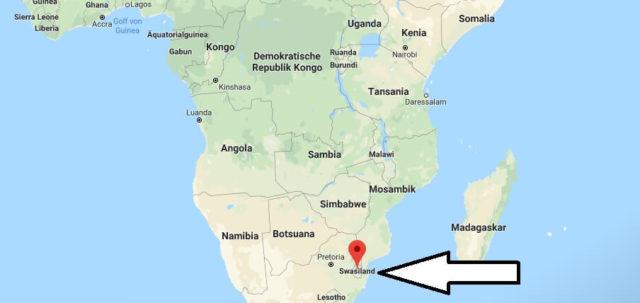 Wo liegt Swasiland? Wo ist Swasiland? in welchem Land? Welcher Kontinent ist Swasiland?