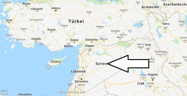 Wo liegt Syrien? Wo ist Syrien? in welchem Land? Welcher Kontinent ist Syrien?