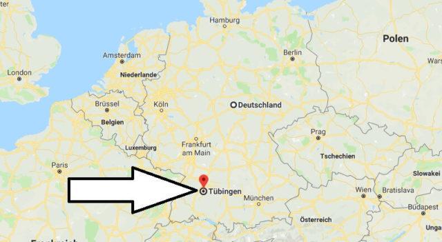 Wo liegt Tübingen? Wo ist Tübingen? in welchem Land