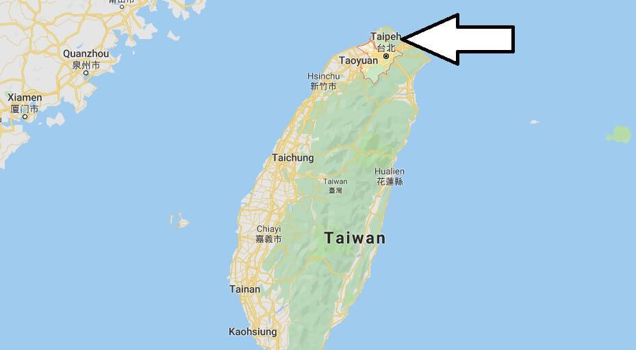 Wo liegt Taipeh? Wo ist Taipeh? in welchem land liegt Taipeh