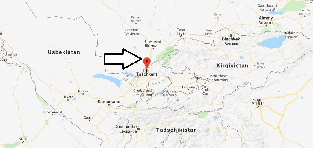 Wo liegt Taschkent? Wo ist Taschkent? in welchem land liegt Taschkent