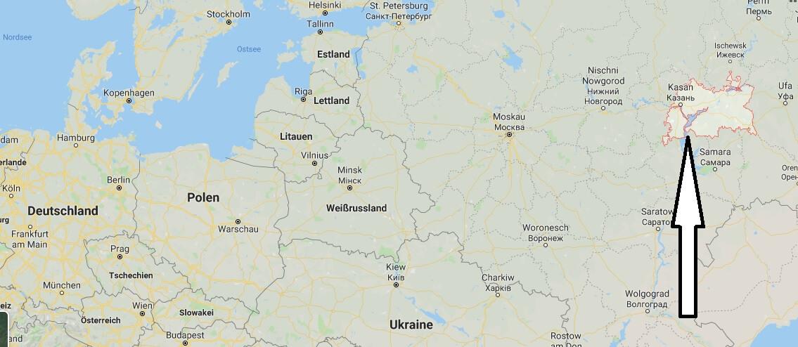 Wo liegt Tatarstan? Wo ist Tatarstan? in welchem Land? Welcher Kontinent ist Tatarstan?