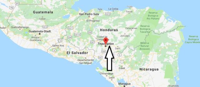 Wo liegt Tegucigalpa? Wo ist Tegucigalpa? in welchem land liegt Tegucigalpa