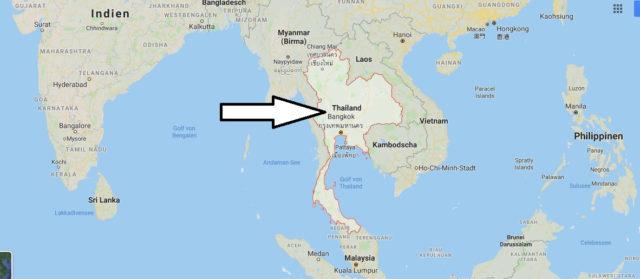 Wo liegt Thailand? Wo ist Thailand? in welchem Land? Welcher Kontinent ist Thailand?