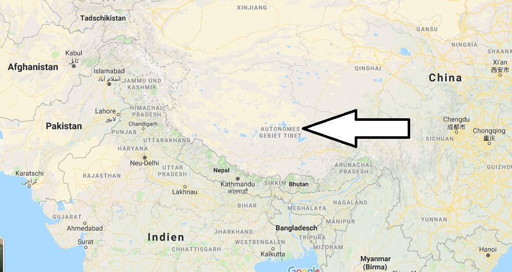 Wo liegt Tibet? Wo ist Tibet? in welchem Land? Welcher Kontinent ist Tibet?