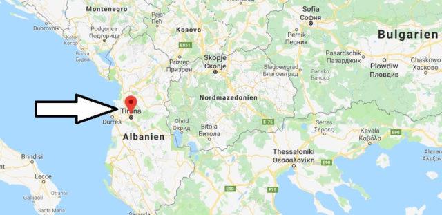 Wo liegt Tirana? Wo ist Tirana? in welchem land liegt Tirana