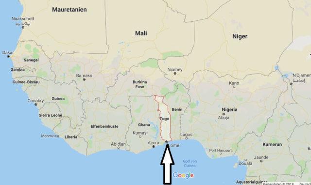 Wo liegt Togo? Wo ist Togo? in welchem Land? Welcher Kontinent ist Togo?