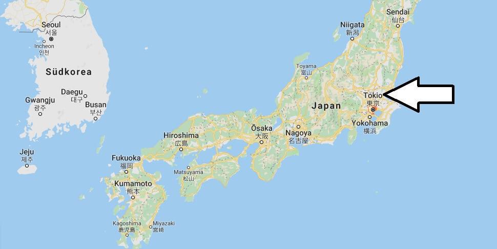 Wo liegt Tokio? Wo ist Tokio? in welchem land liegt Tokio