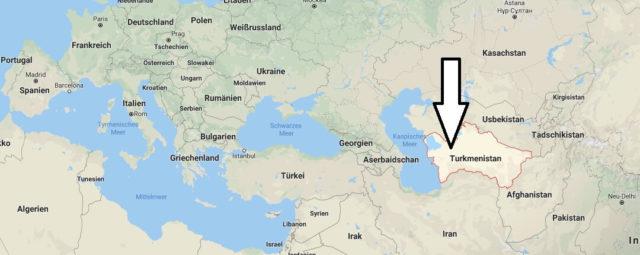 Wo liegt Turkmenistan? Wo ist Turkmenistan? in welchem Land? Welcher Kontinent ist Turkmenistan?