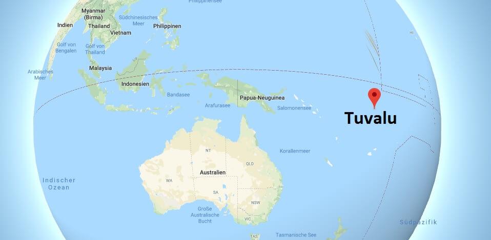 Wo liegt Tuvalu? Wo ist Tuvalu? in welchem Land? Welcher Kontinent ist Tuvalu?