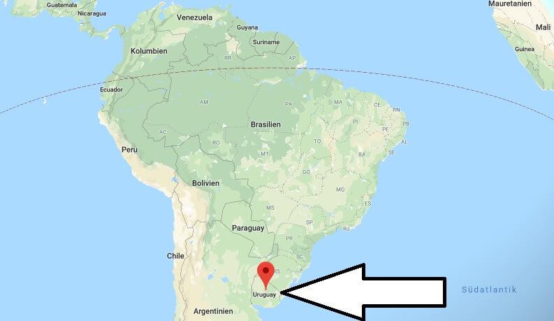 Wo liegt Uruguay? Wo ist Uruguay? in welchem Land? Welcher Kontinent ist Uruguay?