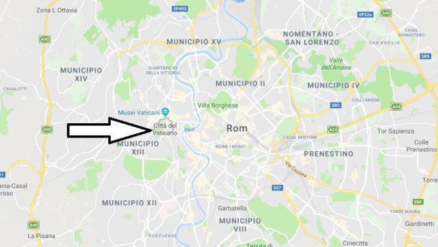 Wo liegt Vatikanstadt? Wo ist Vatikanstadt? in welchem Land? Welcher Kontinent ist Vatikanstadt?
