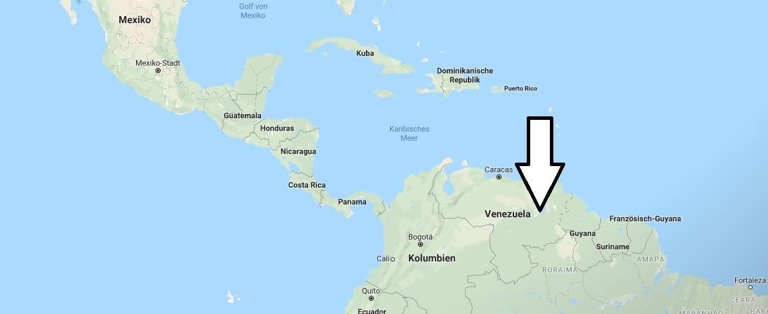 Wo liegt Venezuela? Wo ist Venezuela? in welchem Land? Welcher Kontinent ist Venezuela?