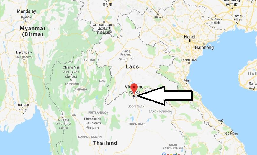 Wo liegt Vientiane? Wo ist Vientiane? in welchem land liegt Vientiane