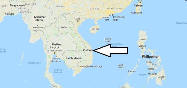 Wo liegt Vietnam? Wo ist Vietnam? in welchem Land? Welcher Kontinent ist Vietnam?
