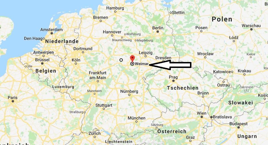 Wo liegt Weimar? Wo ist Weimar? in welchem Land
