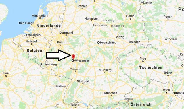 Wo liegt Wiesbaden? Wo ist Wiesbaden