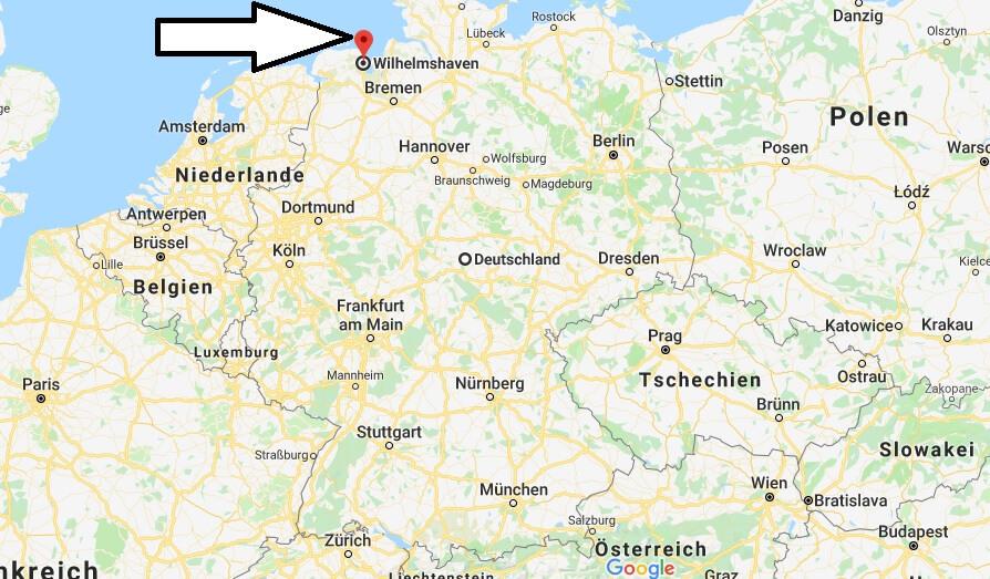 Wo liegt Wilhelmshaven? Wo ist Wilhelmshaven? in welchem Land