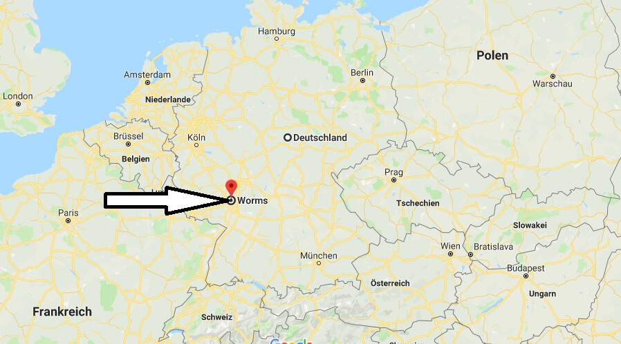 Wo liegt Worms? Wo ist Worms? in welchem Land