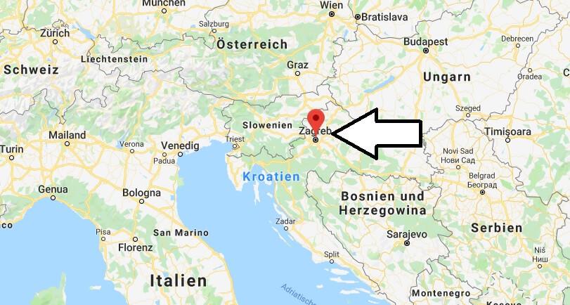 Wo liegt Zagreb? Wo ist Zagreb? in welchem land liegt Zagreb