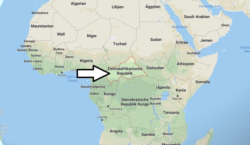 Wo liegt Zentralafrikanische Republik? Wo ist Zentralafrikanische Republik? in welchem Land? Welcher Kontinent ist Zentralafrikanische Republik?