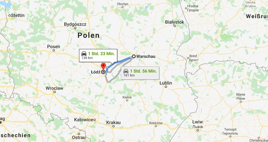 Wo liegt Łódź? Wo ist Łódź? in welchem land liegt Łódź