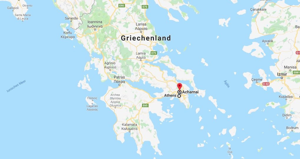 Wo liegt Acharnes? Wo ist Acharnes? in welchem land liegt Acharnes