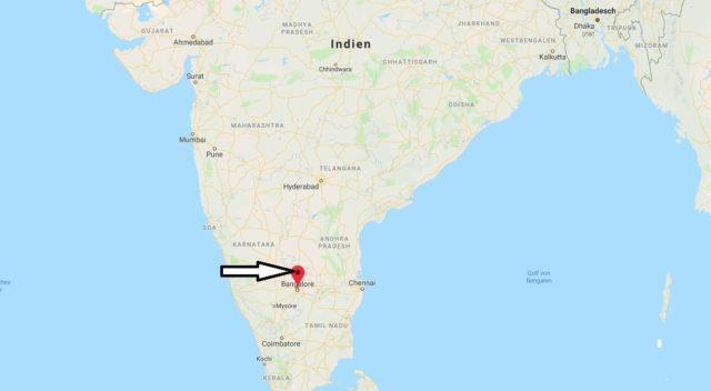 Wo liegt Bangalore? Wo ist Bangalore? in welchem land liegt Bangalore
