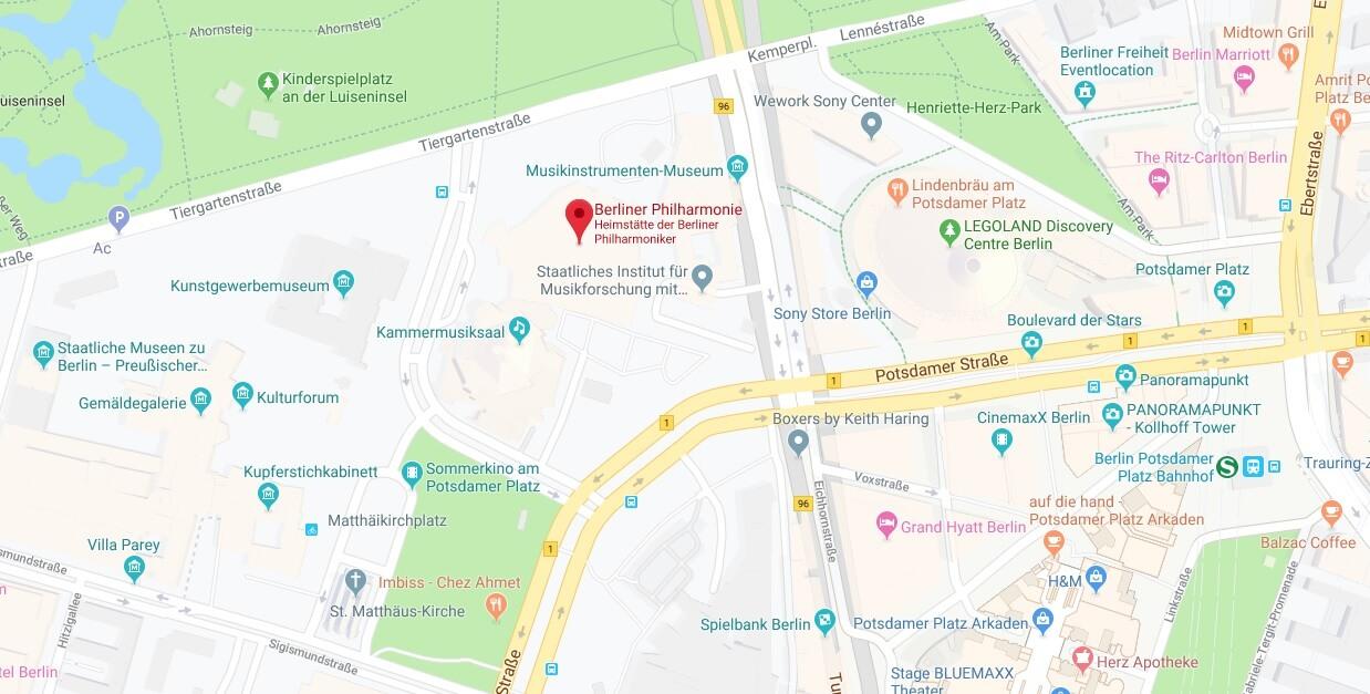 Wo liegt Berliner Philharmonie? Wo ist Berliner Philharmonie