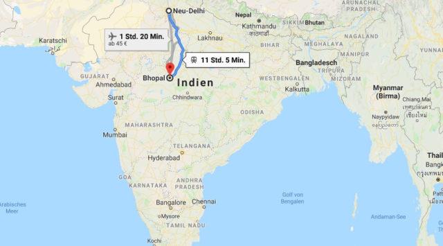 Wo liegt Bhopal? Wo ist Bhopal? in welchem land liegt Bhopal
