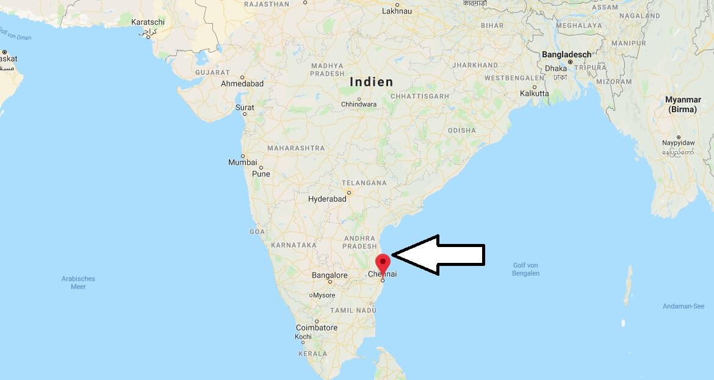 Wo liegt Chennai? Wo ist Chennai? in welchem land liegt Chennai