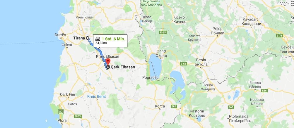 Wo liegt Elbasan? Wo ist Elbasan? in welchem land liegt Elbasan